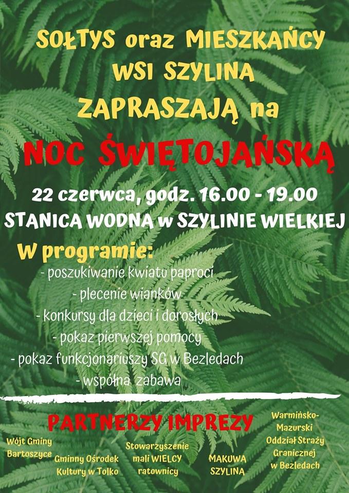 Ilustracja do informacji: Noc Świętojańska w Szylinie Wielkiej