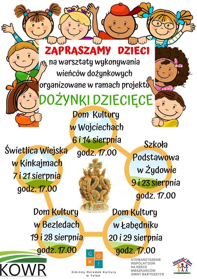 Baner: warsztaty dziecięce połowinki