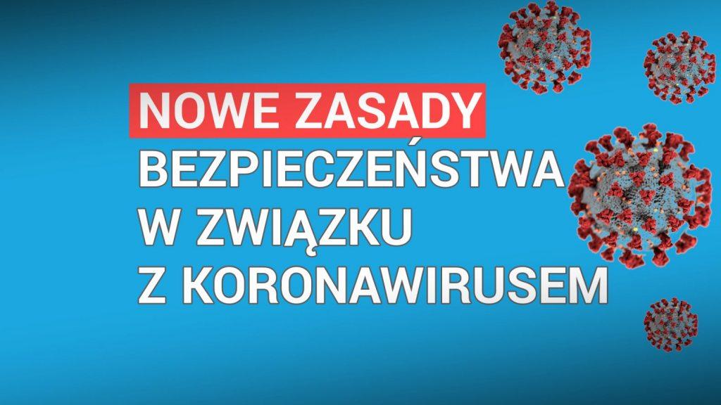 Ilustracja do informacji: Nowe zasady bezpieczeństwa w związku z koronawirusem
