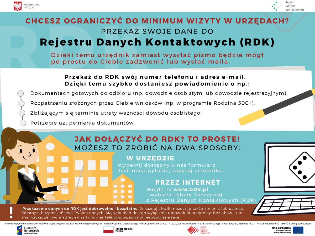 Ilustracja do informacji: Rejestr Danych Kontaktowych - nowe ułatwienia dla mieszkańców