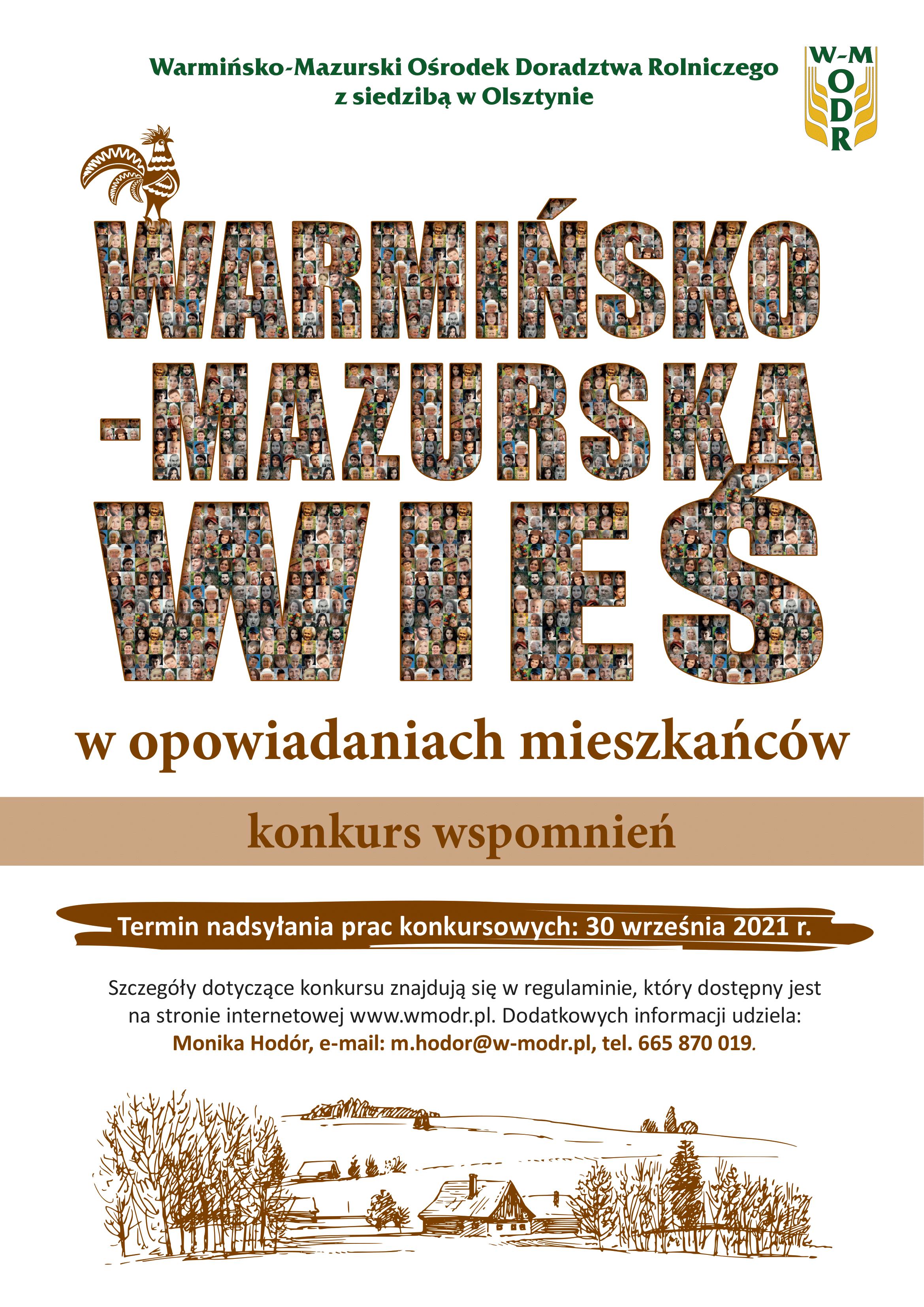 Ilustracja do informacji: Konkurs wspomnień Warmińsko-Mazurska Wieś w opowiadaniach mieszkańców organizowany przez Warmińsko-Mazurski Ośrodek Doradztwa Rolniczego z siedzibą w Olsztynie